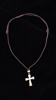 Fair Trade Silver Plated Bullet Casing Cross Necklace from Ethiopia