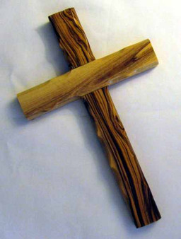Fair Trade Carved Olive Wood Cross from the Holyland