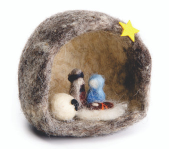 Fair Trade Wool Bedouin Nativity from West Bank
