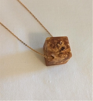 Fair Trade Eco-Resin and Precious Metal Necklace from Colombia