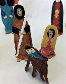 Fair Trade Tuno Bark Nativity Set from Honduras