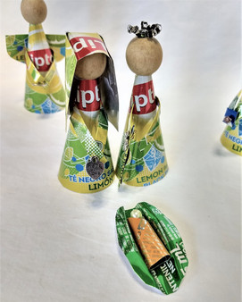 Fair Trade Recycled Drink Can Nativity Set from Honduras