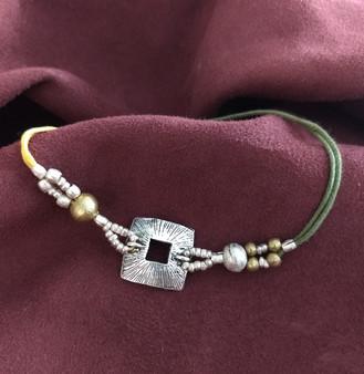 Fair Trade Brass Bullet Casing Bead Bracelet from Ethiopia