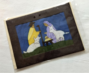 Fair Trade Batik Nativity Note Card from Nepal