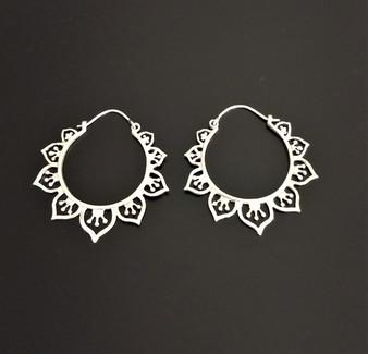 Fair Trade Sterling Hoop Earrings from India
