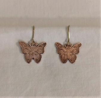 Fair Trade Bronze Butterfly Earrings from Peru
