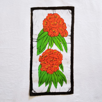 fair trade batik rhododendron wall art from nepal