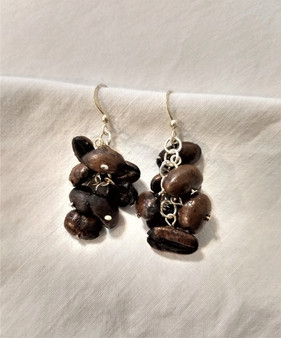 Fair Trade Coffee Bean Earrings from Ethiopia