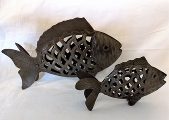 Fair Trade Recycled Steel Drum Fish from Haiti