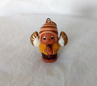 Fair Trade Hand Painted Ceramic Angel Ornament from Peru