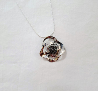 Fair Trade Sterling Silver and Druzy Quartz Pendant from Israel