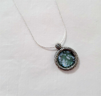 Fair Trade Sterling and Roman Glass Pendant from Israel