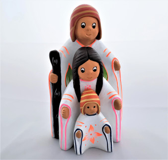 Fair Trade Handpainted Ceramic Nativity from Peru