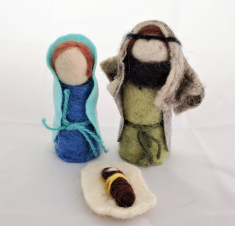 Fair Trade Felted Wool Nativity from West Bank