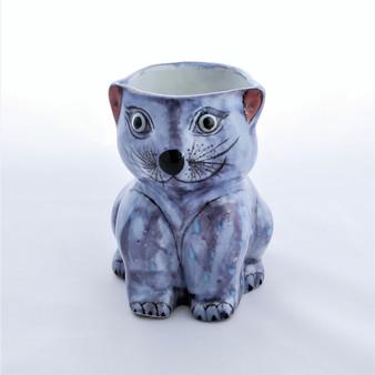 Fair Trade Hand Painted Ceramic Cat Mug from Guatemala