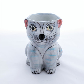 Fair Trade Hand Painted Ceramic Cat Mug from Guatemala