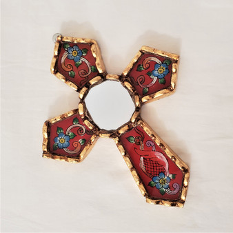 Fair Trade Reverse Glass Painted Cross from Peru