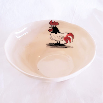 Fair Trade Ceramic Rooster Bowl from Vietnam