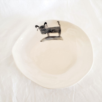 Fair Trade Ceramic Dog Appetizer Plate from Vietnam