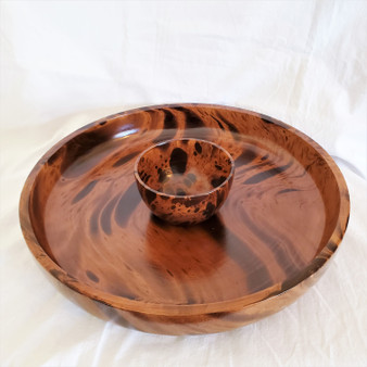 Fair Trade Mango Wood Chip and Dip Bowl from Thailand