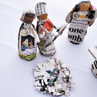 Fair Trade Recycled Newsprint Nativity Set from Honduras