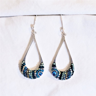 Fair Trade Crystal and Dichroic Glass Earrings from Mexico