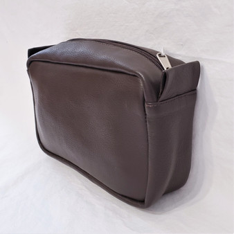 Fair Trade Leather Shaving Kit / Toiletry Bag from Nepal