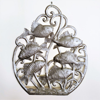 Fair Trade Recycled Steel Drum Fish Wall Hanging from Haiti