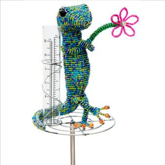 Fair trade beaded gecko rain gauge from Haiti