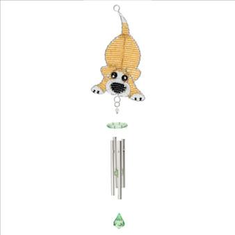 Fair trade beaded dog small wind chime from Haiti
