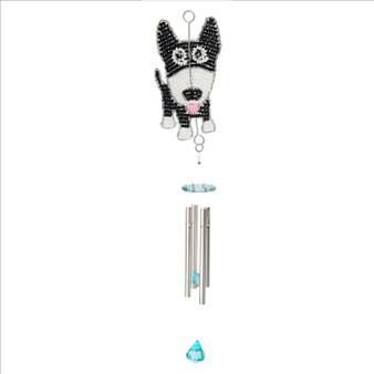 Fair traded beaded dog small wind chime from Haiti