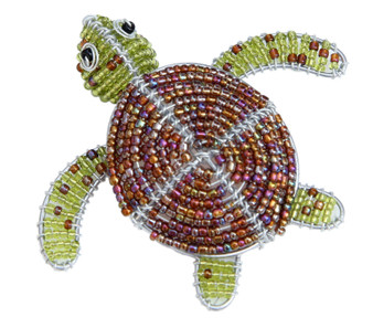 Fair Trade Beaded Sea Turtle Figure from Haiti