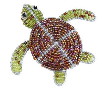 Fair Trade Beaded Sea Turtle Figure from Haiti