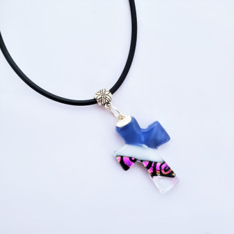 Fair Trade Fused Recycled Glass Cross Pendant from Chile