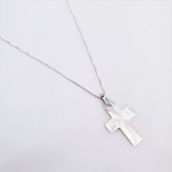 Fair Trade Mother of Pearl Cross from the Holyland