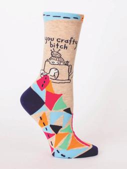 You Crafty Bitch Crew Socks for Women