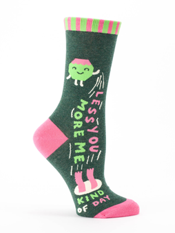 Less You More Me Crew Socks for Women