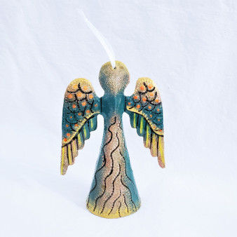Fair Trade Recycled Steel Drum Standing Angel from Haiti