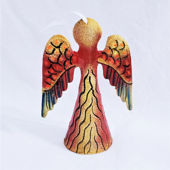 fair trade recycled steel drum angel ornament from Haiti