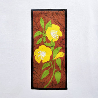 fair trade batik godawari floral wall art from nepal