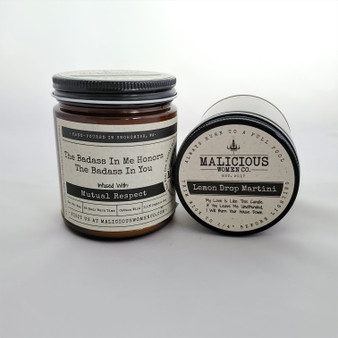 Malicious Women Soy Candle in a Jar