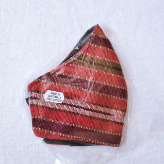 fair trade hand crafted duckbill style face mask with earbands from guatemala