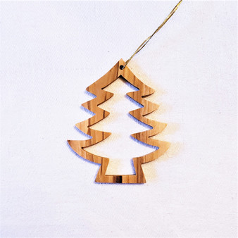 fair trade olive wood tree ornament from the Holyland