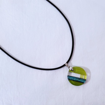 fair trade fused recycled glass pendant from chile