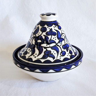 fair trade hand painted ceramic dish with lid from Palestine