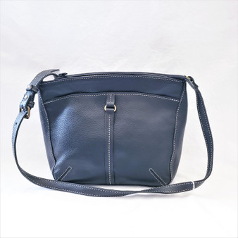 fair trade leather cross body purse from Nepal
