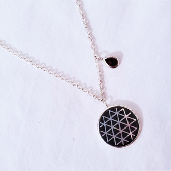 fair trade bidri silver inlay and zinc copper alloy necklace from india