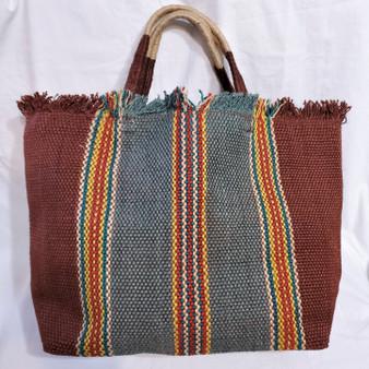 fair trade jute shopping tote bag from Bangladesh