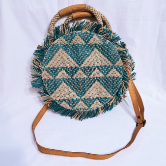 fair trade jute cross body purse from Bangladesh