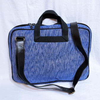 fair trade woven jute soft sided computer bag from Bangladesh